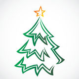 Christmas  tree with star Royalty Free Stock Photo