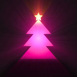 Christmas tree with star light halo Royalty Free Stock Image