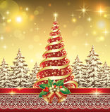 Christmas tree with a star Royalty Free Stock Images
