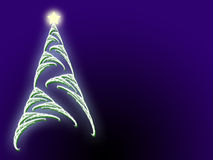 Christmas tree star and copyspace. Soft focus Christmas tree and glowing star with copyspace area Royalty Free Stock Image