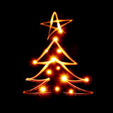 Christmas tree with star Royalty Free Stock Images