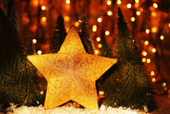 Christmas tree star decoration Royalty Free Stock Images