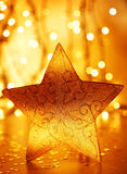 Christmas tree star decoration Stock Image