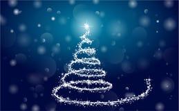 Christmas. Tree, star, glow, winter Royalty Free Stock Photos