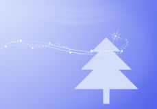 Christmas tree and star light Royalty Free Stock Photos
