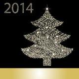 Christmas Tree From Star Light Stock Photos