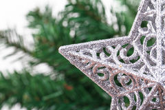 Christmas Tree with Star Ornament Stock Photography