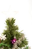 Christmas tree with star on top. Christmas tree with a star on top against a white background Royalty Free Stock Photos