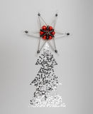 Christmas tree with star on the top. Royalty Free Stock Photography