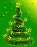 Christmas tree with stars Royalty Free Stock Image