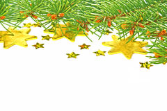 Christmas tree and stars Stock Images