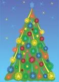 Christmas Tree with Stars Stock Photos