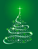 Christmas Tree with Stars. Abstract Christmas tree shaped with stars and gradient ribbons Royalty Free Stock Photos