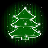 christmas tree and stars Royalty Free Stock Images