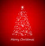 Christmas tree from stars stock photo