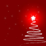 Christmas tree with stars. Vector illustration royalty free illustration