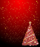Christmas tree and stars Royalty Free Stock Photography