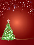 Christmas tree and stars Stock Photo