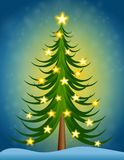 Christmas Tree Stars Royalty Free Stock Photo