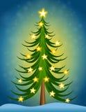 Christmas Tree Stars Royalty Free Stock Photo