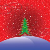 Christmas tree with stars background Royalty Free Stock Photo