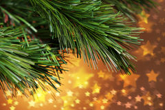 Christmas Tree Stars Background Royalty Free Stock Photography