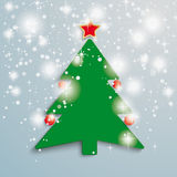 Christmas Tree Stars Background PiAd. Christmas Tree on the grey background. Eps 10  file Royalty Free Stock Photos
