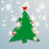 Christmas Tree Stars Background PiAd. Christmas Tree on the grey background. Eps 10 file royalty free illustration
