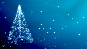 Christmas tree with stars - blue variant Royalty Free Stock Photos