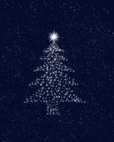 Christmas tree stars in sky Stock Photos
