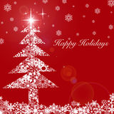 Christmas Tree with Stars and Snowflakes 2 Royalty Free Stock Photography