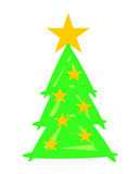 Christmas Tree with Stars - Weihnachtsbaum Stock Images