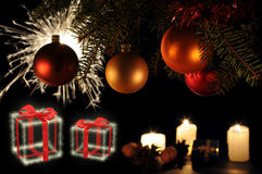 Christmas tree stick stock images