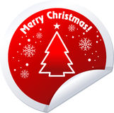 Christmas Tree Stickers Stock Photo