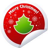 Christmas Tree Stickers Stock Images
