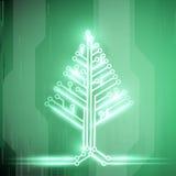 Christmas tree. Stock illustration. Royalty Free Stock Photo