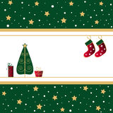 Christmas tree and stockings Stock Photos