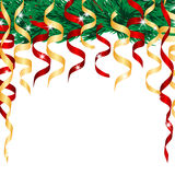 Christmas Tree and streamers Stock Image