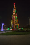 Christmas tree on the street from Managua, Nicaragua. Managua, Nicaragua on December 22, 2015 Arboles de la vida at night. Trees of live it`s a government mark Royalty Free Stock Image