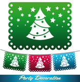 Christmas tree streets decoration Royalty Free Stock Photos