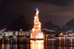 Christmas Tree Structure in Rio de Janeiro Stock Image