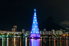 Christmas Tree Structure in Rio de Janeiro Royalty Free Stock Photography