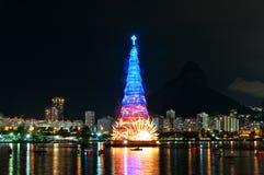 Christmas Tree Structure in Rio de Janeiro Stock Photos