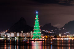 Christmas Tree Structure in Rio de Janeiro Royalty Free Stock Images