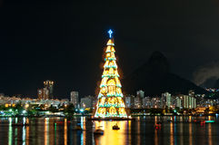 Christmas Tree Structure in Rio de Janeiro Royalty Free Stock Photo