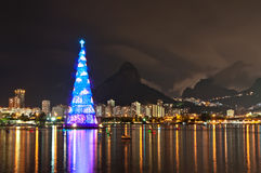 Christmas Tree Structure in Rio de Janeiro Stock Images