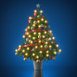 Christmas tree - studio shot 9 Royalty Free Stock Images
