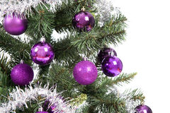 Christmas tree in studio on white background Royalty Free Stock Image