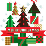 Christmas tree style Royalty Free Stock Photos