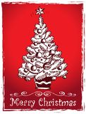 Christmas tree stylized drawing 2 Royalty Free Stock Photo